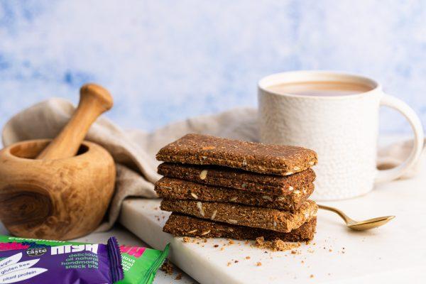 Open Hiya bars cacao and tea